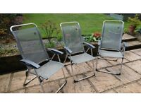Lafuma Champs Elips Highback camping chairs x3