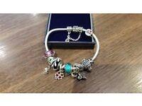 Genuine Pandora Bracelet & Charms.