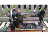 Singer hand sewing machine very old