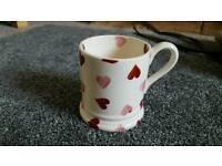 Emma Bridgewater half pint heart mug.
