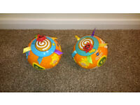Twin Pair of VTech Move and Crawl Balls