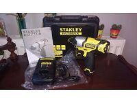 STANLEY Fatmax Impact Driver 10.8V + 1.5Ah Li-Ion Battery + Charger + Case + RECEIPT(3Y Warr) =£55