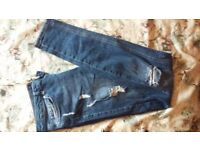 Womens jeans size 8/10 river island & hollister