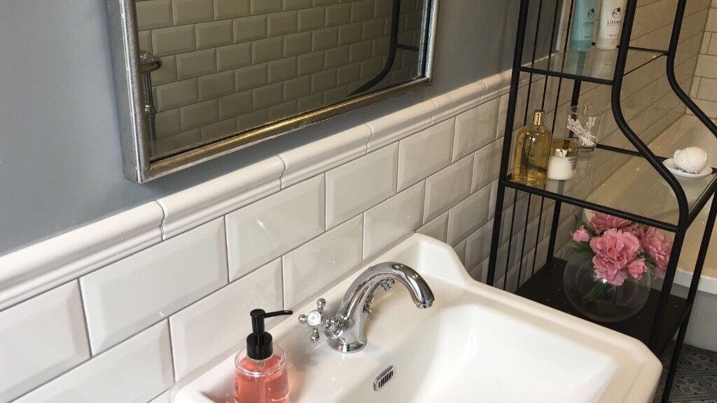 White Dado Border Tiles Moulding X 32 In Crosshill Glasgow Gumtree