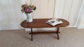 Solid Dark Oak Coffee Table in excellent condition