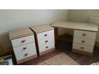 bedroom wardrobe, dressing table, 2 small units