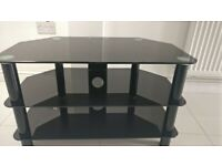 Three Tier TV Stand - Black - 80cm x 45cm x 47cm (Length x Width x Height)