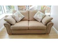 Immaculate fabric sofa with 2 cushions