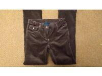 Boden, boys brown corduroy trousers, age 10