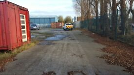 Large - half acre - concreted yard with portacabin