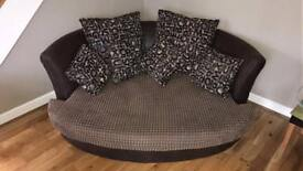 Large round 3 seater sofa