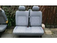 VW t5 transporter middle row of seats