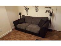Virtually New Bailey Large Jumbo Cord Sofa - Charcoal