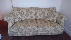 Beautiful 3 seater sofa and chair, as good as new