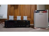 Sony Dolby pro logic system + sony sub and 3 speakers