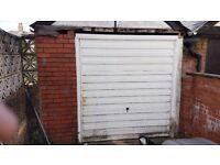 WHITE garage door with frame. Door Height 2110MM x 1960MM