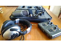 Red 5 RV6 Condensor Mic with case and accessories + M-Audio usb module