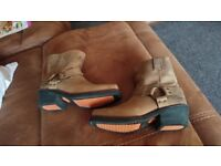 motorbike boots harley davidson womens leather boots size8