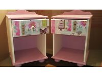 Pink shabby chic sidetables