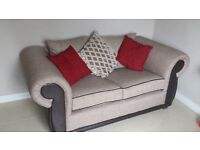 Top of the Range Two Seater Sofa, chesterfield style, virtually unused