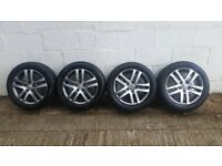 "VW GOLF / GOLF PLUS / TOURAN RONAL ATLANTA 16"" ALLOYS & TYRES X 4"