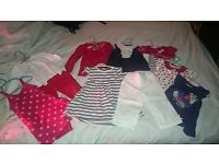 Girls 2-3 year old summer pack of clothes in nautical colours.