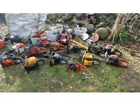 chainsaws and garden equipment job lot