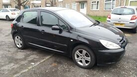 1.6 PEUGEOT 307 PETROL MANUAL 91000 MILE MOT 6/10/17 HISTORY 3 MONTHS WARRANTY drives really good