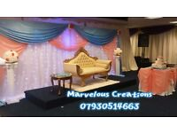 Wedding decoration packages and wedding sofa for hire