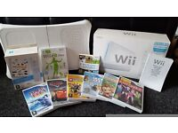 Wii Console and Wii Balance Board with Games