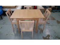 John Lewis Alba Dining Table & 4 Julian Bowen Rufford Dining Chairs In Excellent Condition