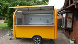 Catering Trailer Food Cart Burger Van Hot Dog Trailer 2800x1650x2300 Ready For Collection
