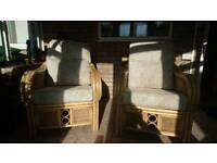 2 Large Conservatory Chairs