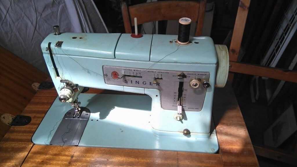 Singer Sewing Machine - Model 348 - in its own table