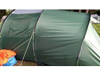 4 man tunnel tent (used once)