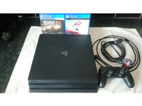 PS4 Pro Console 1T+ 2 games. In perfect working order