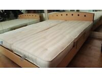 Double Electric Bed ( 2 single, can be adjusted both sides to suit )