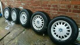 Bmw 16 inch alloys and tyres (5) bargain