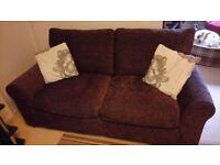 Chocolate 2 seater sofa