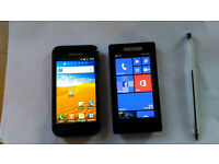 two phones nokia n520 and samsung gt19000