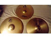 Zildjian A's, Z's & Turkish Crash Cymbals (Free P+P)