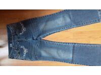 Older Girls Mid Blue Denim Jeans 8-9 years