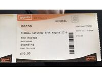 Borns ticket Nottingham