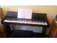 digital piano full size weighted keys lovely condition many features record, guitar harpiscord etc