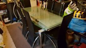 Extending frosted glass table *Price reduced*