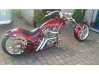 Custom Chopper motorcycle, 113ci S&S engine, air ride suspension, 300 rear wheel, OIR £25,000