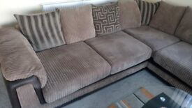 Corner sofa and footstool, Perfect condition, 7 mths old