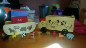 Wooden Truck & Noahs Ark