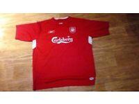 ce7bcf4ec Liverpool fc football shirt reebok carlsberg 46 48