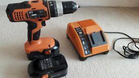 AEG BSB18G Cordless 18v Combi Drill 2x 1.4Ah NiCd Battery